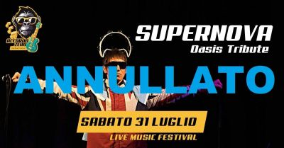 """ANNULLATO IL LIVE DI QUESTA SERA ALL'""""ACCORDO ZERO LIVE MUSIC FESTIVAL"""""""